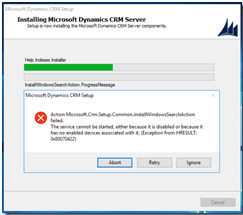 CRM 2016/365 Installation on Server 2016   Information Dynamics